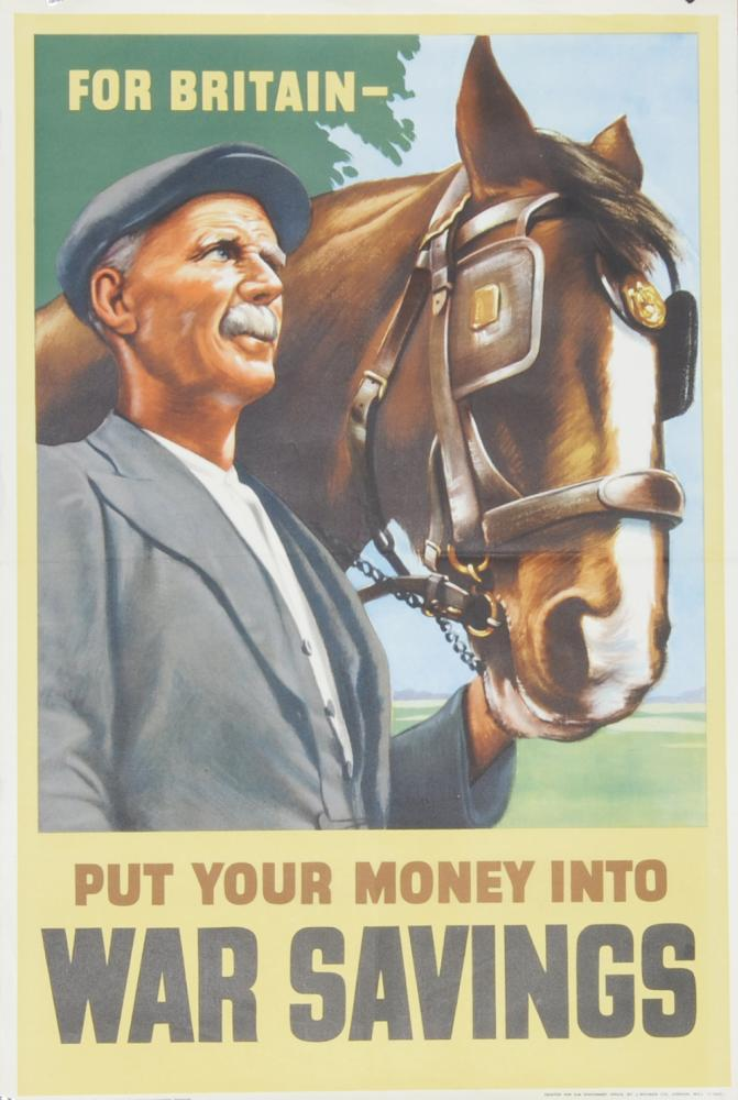 Wartime Poster, 'For Britain - Put Your Money Into