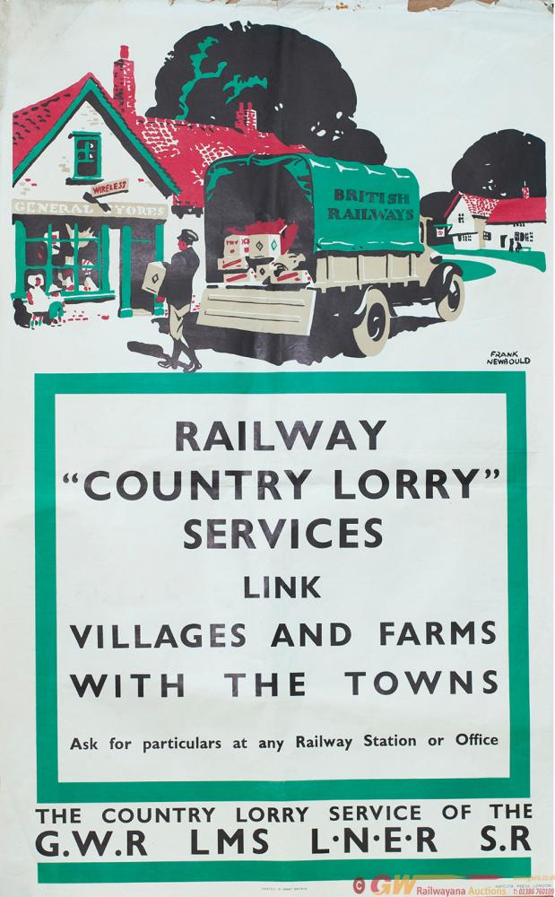 Poster GWR/LMS/LNER/SR  RAILWAY COUNTRY LORRY