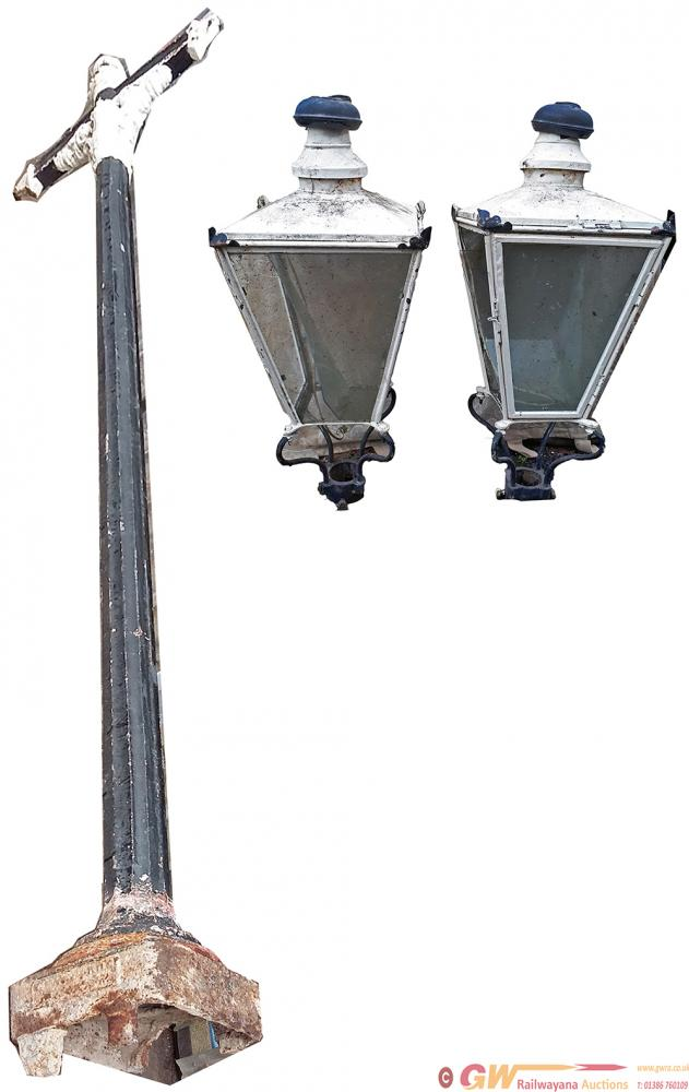 A Pair Of North British Railways Cast Iron Lamp