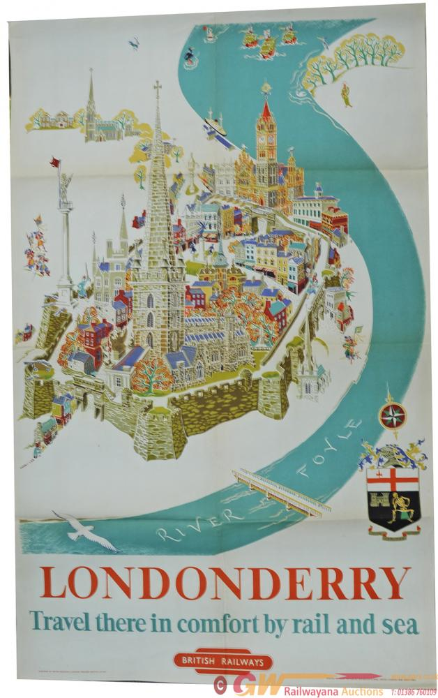 Poster 'Londonderry - Travel There In Comfort By