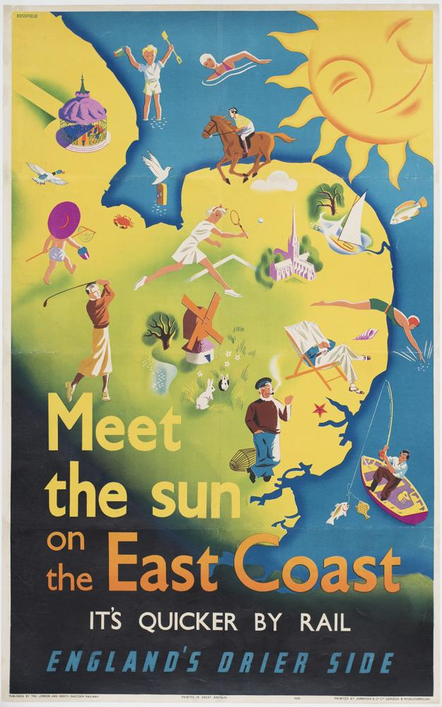Poster LNER MEET THE SUN ON THE EAST COAST IT'S