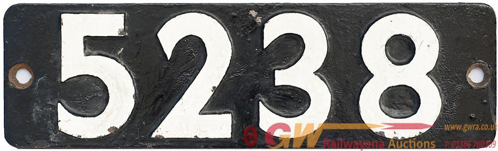 <P>Smokebox Numberplate 5238 Ex GWR Churchward