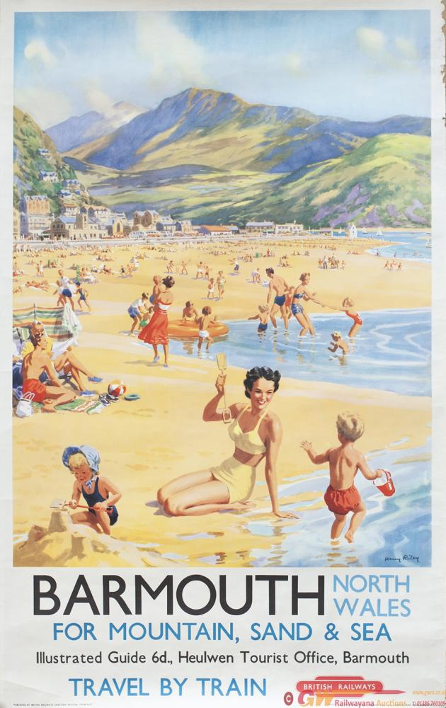 Poster BR(W) BARMOUTH NORTH WALES By Harry Riley.