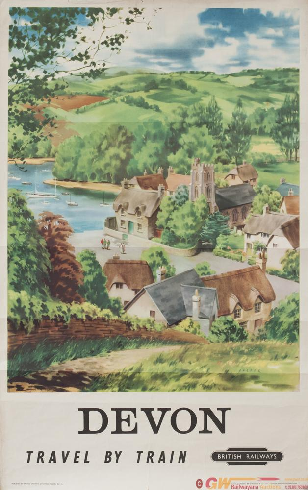 Poster BR(W) DEVON By Barber. Double Royal 25in X