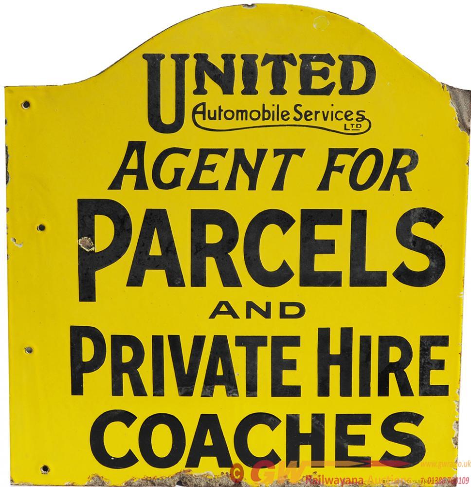 Enamel Advertising Sign ' United Automobile