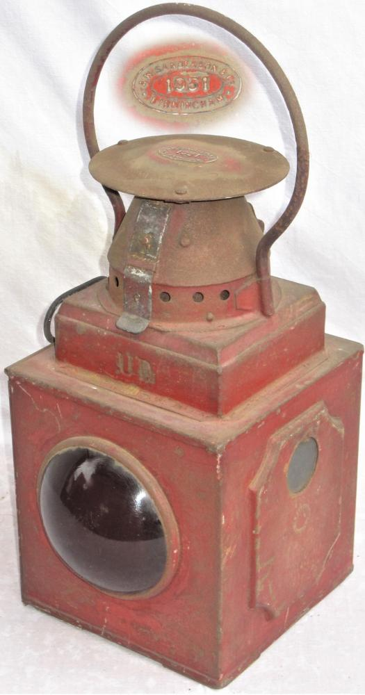 A Locomotive TAIL LAMP Probably Used On An