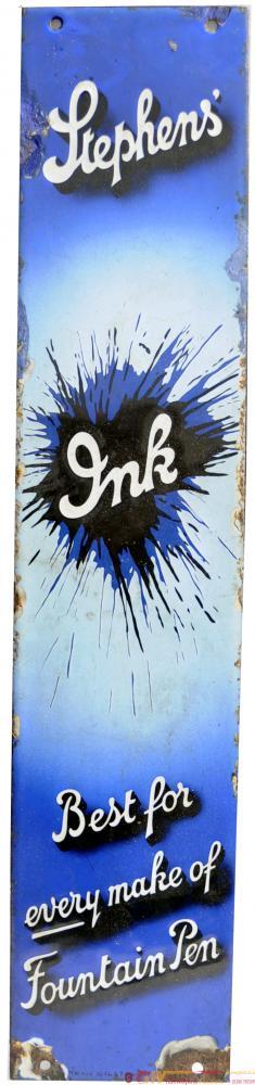Advertising Enamel Sign 'Stephen's Ink', Vertical