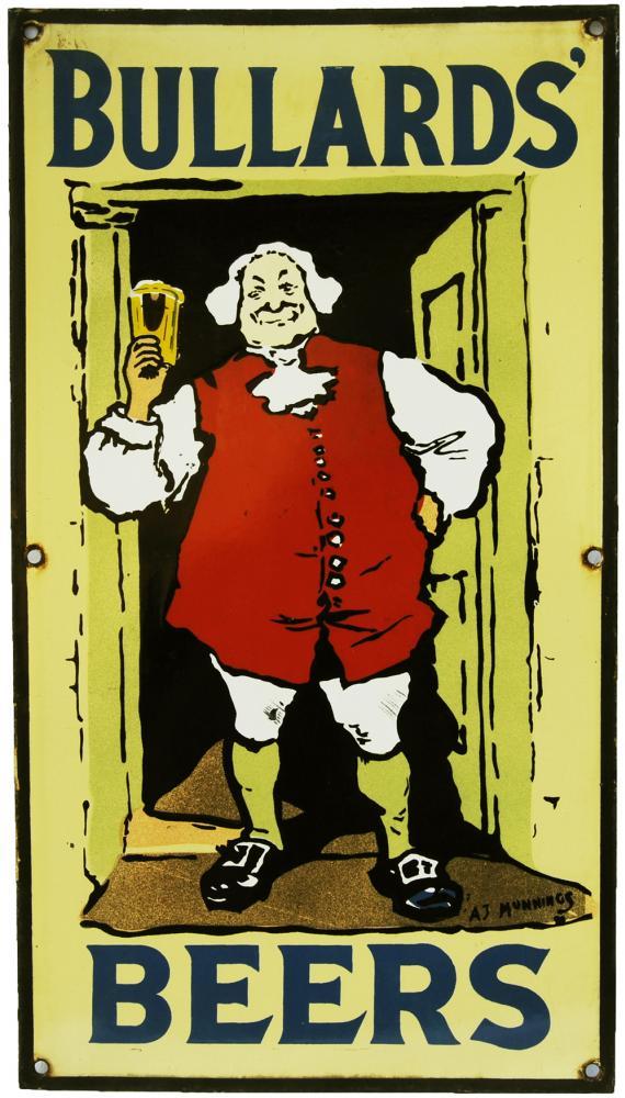Enamel Advertising Sign 'Bullards Beers',