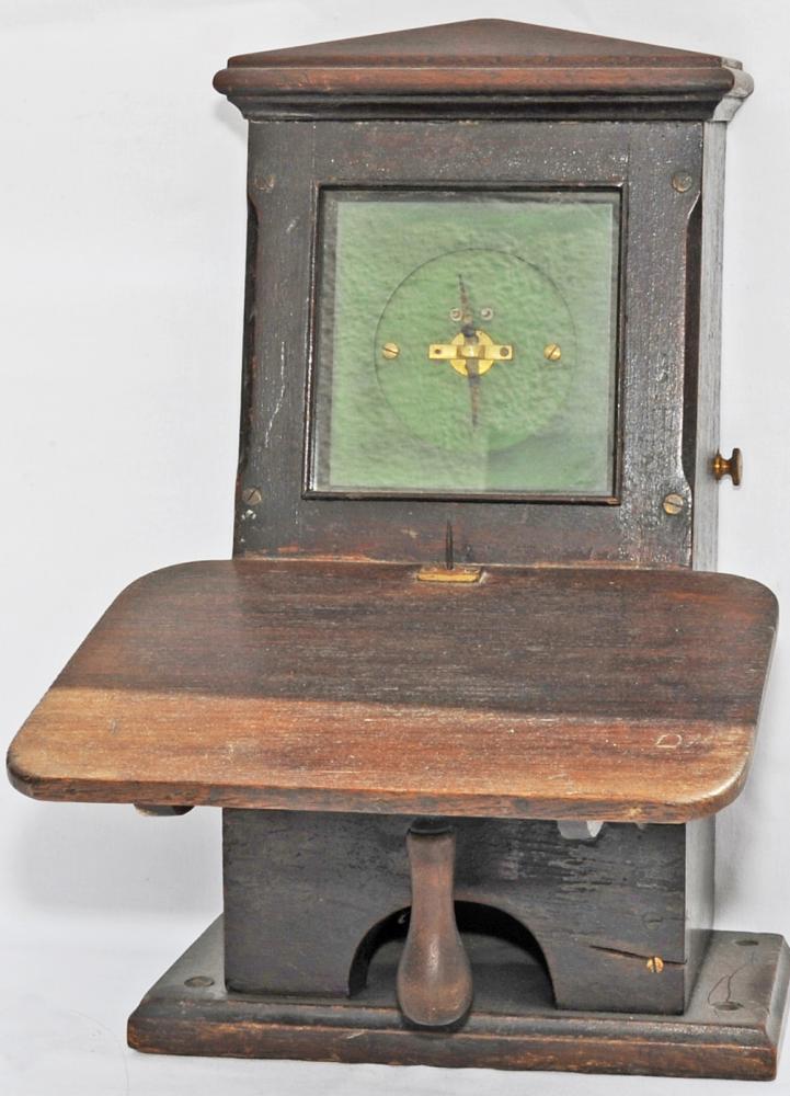 Tyers Single Needle Mahogany Cased Signal Box
