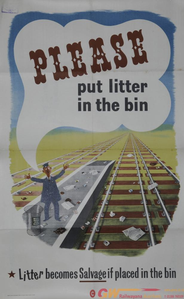 Poster Advertising Type 'Please Put Litter In The