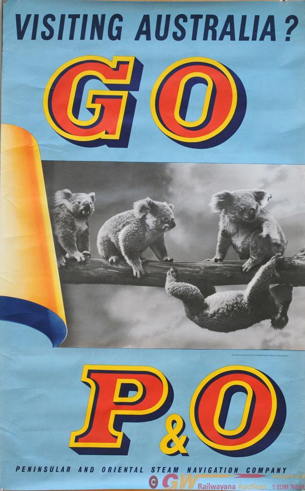 Poster 'Visiting Australia - Go P&O', Double Royal