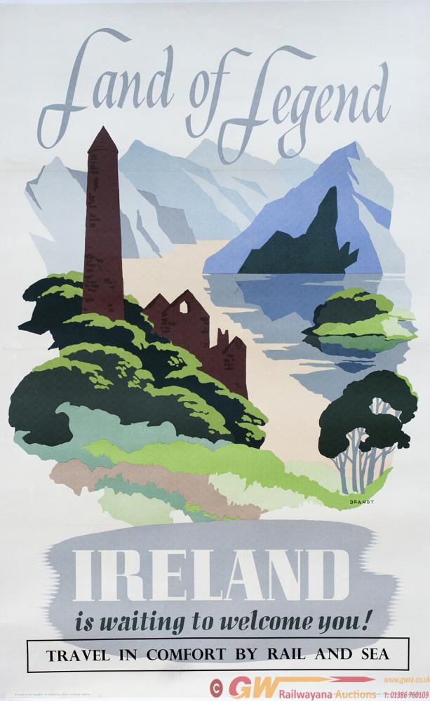 Poster IRELAND LAND OF LEGEND IS WAITING TO