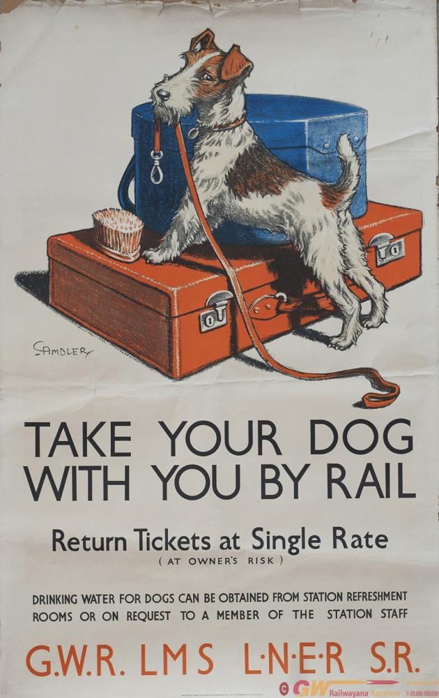 Poster GWRLMSLNERSR ww2 TAKE YOUR DOG WITH YOU BY