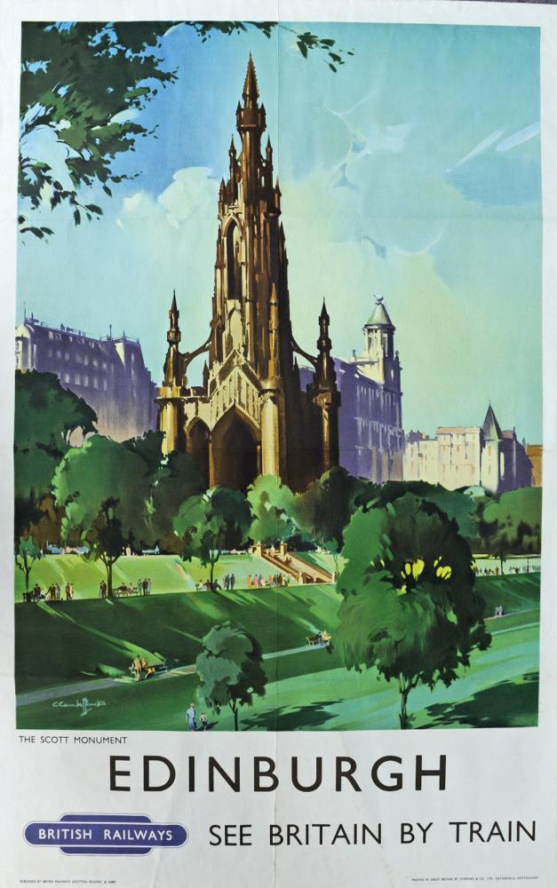 BR Poster Edinburgh - The Scott Monument By Claude