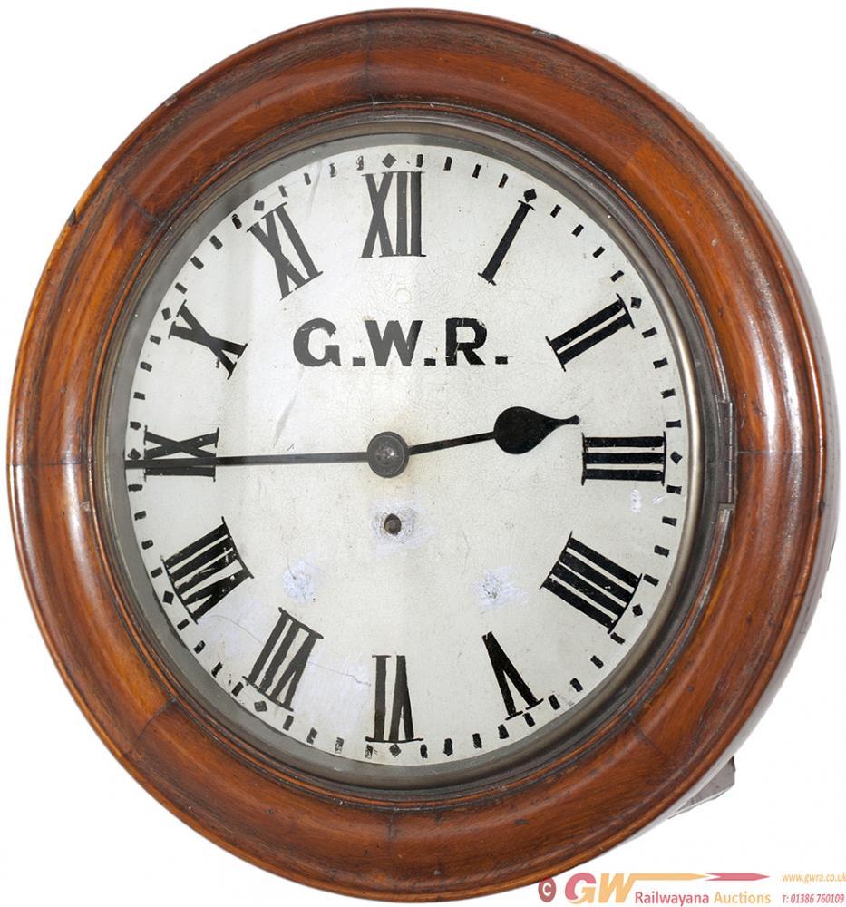 Barry Railway 12in Oak Cased Railway Clock With A