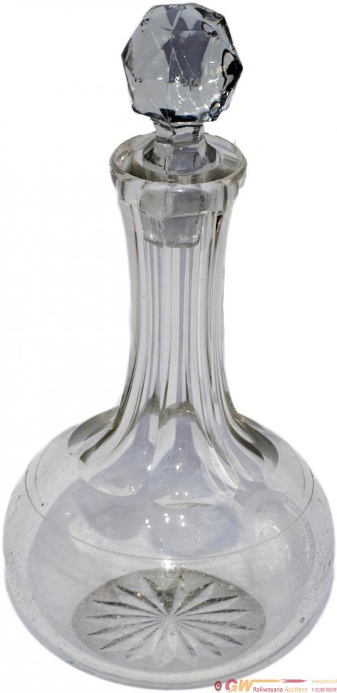 Lancashire And Yorkshire Railway Cut Glass Vinegar