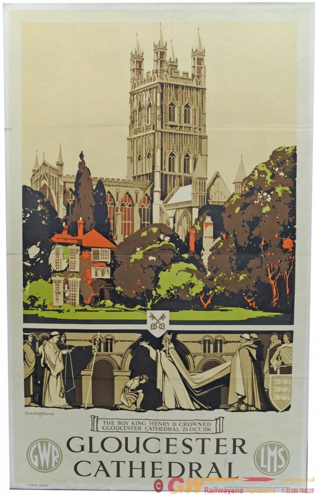 GWR & LMS Joint Poster 'Gloucester Cathedral' By