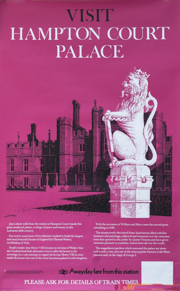 Poster BR(S) HAMPTON COURT PALACE By R. Lander.