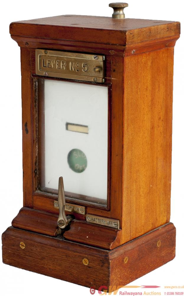 GWR Mahogany Cased Single Slot Repeater With Brass