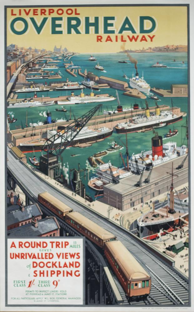 Poster LIVERPOOL OVERHEAD RAILWAY A ROUND TRIP 13