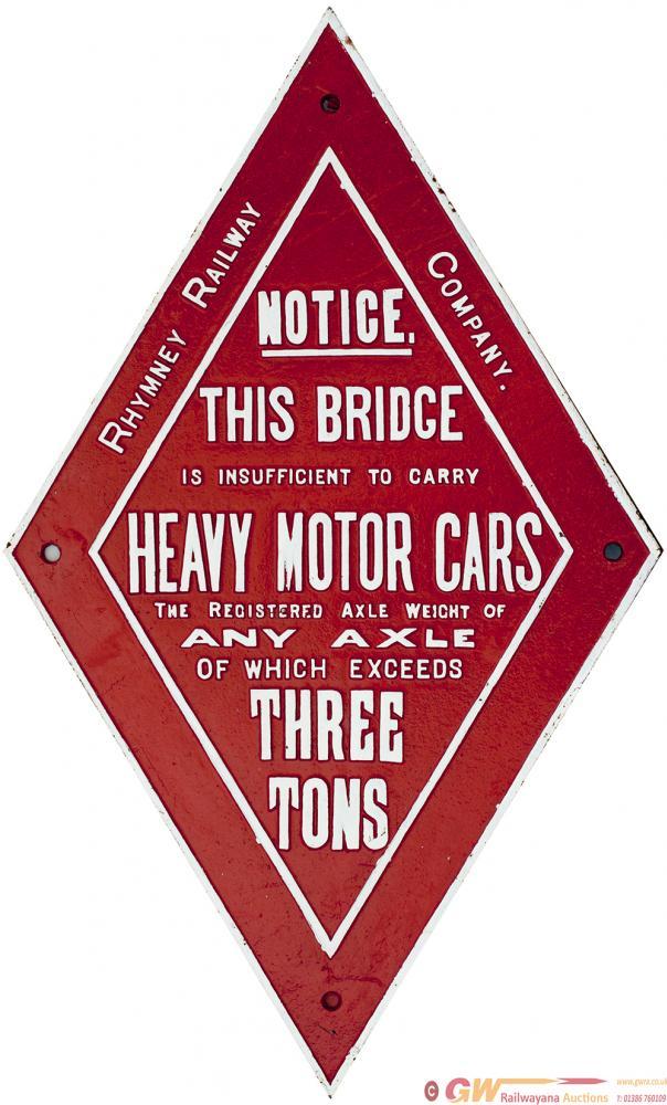 Rhymney Railway Cast Iron Diamond BRIDGE