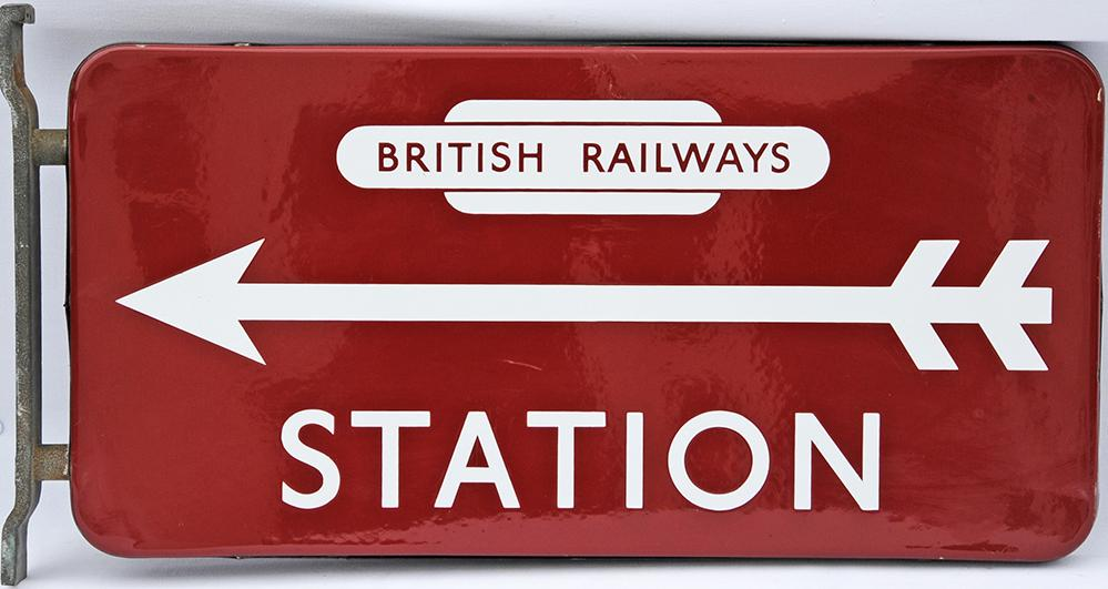 BR(M) Double Sided Station Direction Sign, 21 X 10