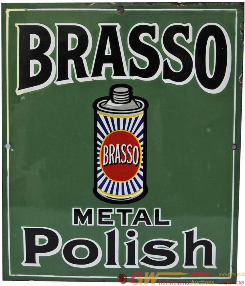 Enamel Advertising Sign 'Brasso Metal Polish'.