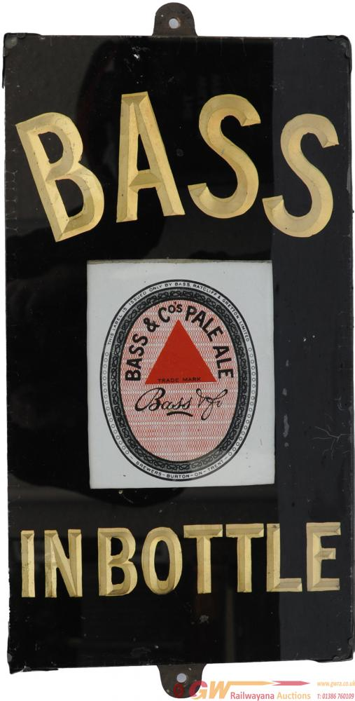 Brewery Advertising Glass & Slate Sign 'Bass In