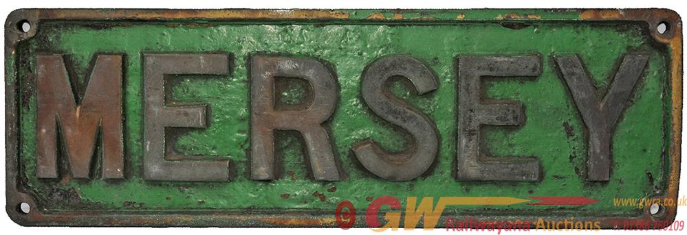 Nameplate MERSEY Ex Industrial Locomotive.