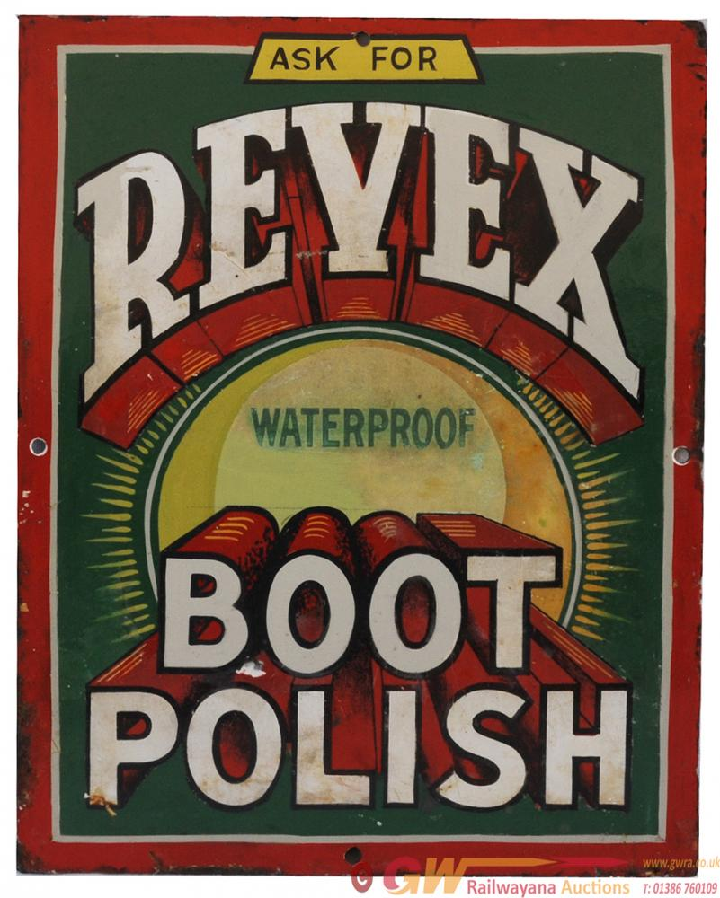 Advertising Enamel 'Ask For Revex Waterproof Boot