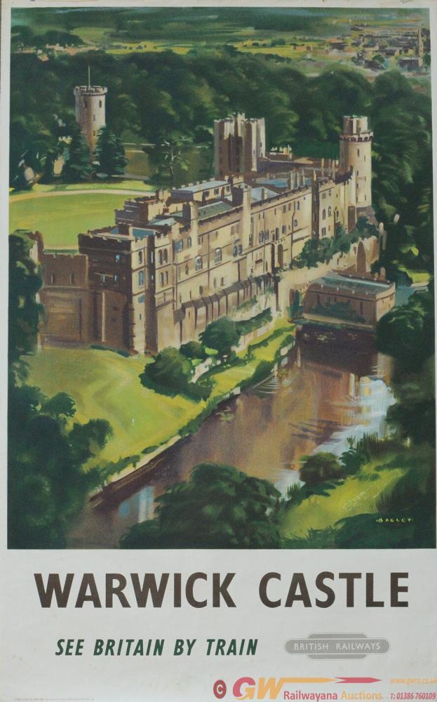 Poster BR(W) 'Warwick Castle' By Bagley Circa 1958