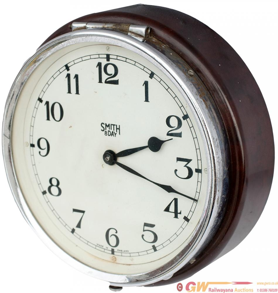 GWR 6in Bus Type Clock By Smiths Of England. The