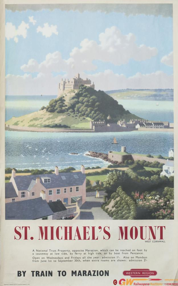 Poster BR(W) ST MICHAELS MOUNT WEST CORNWALL By