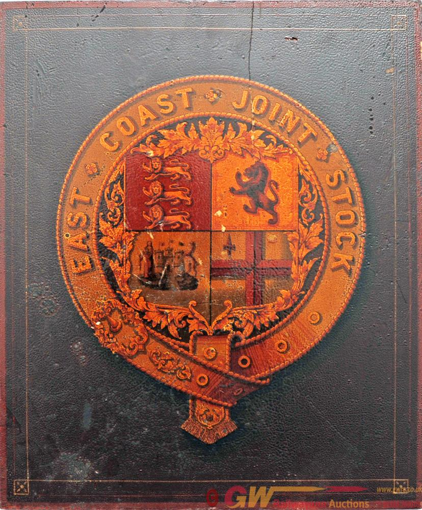 Railway Coat Of Arms East Coast Joint Stock.