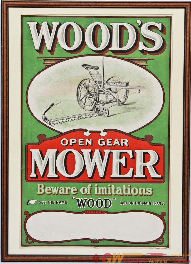 Advertising Poster 'Wood's Open Gear Mower -