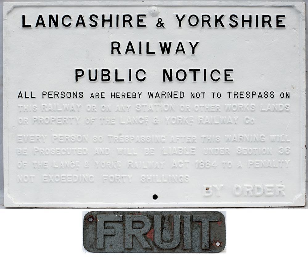 L&YR Cast Iron Trespass Sign. DO NOT TRESPASS.