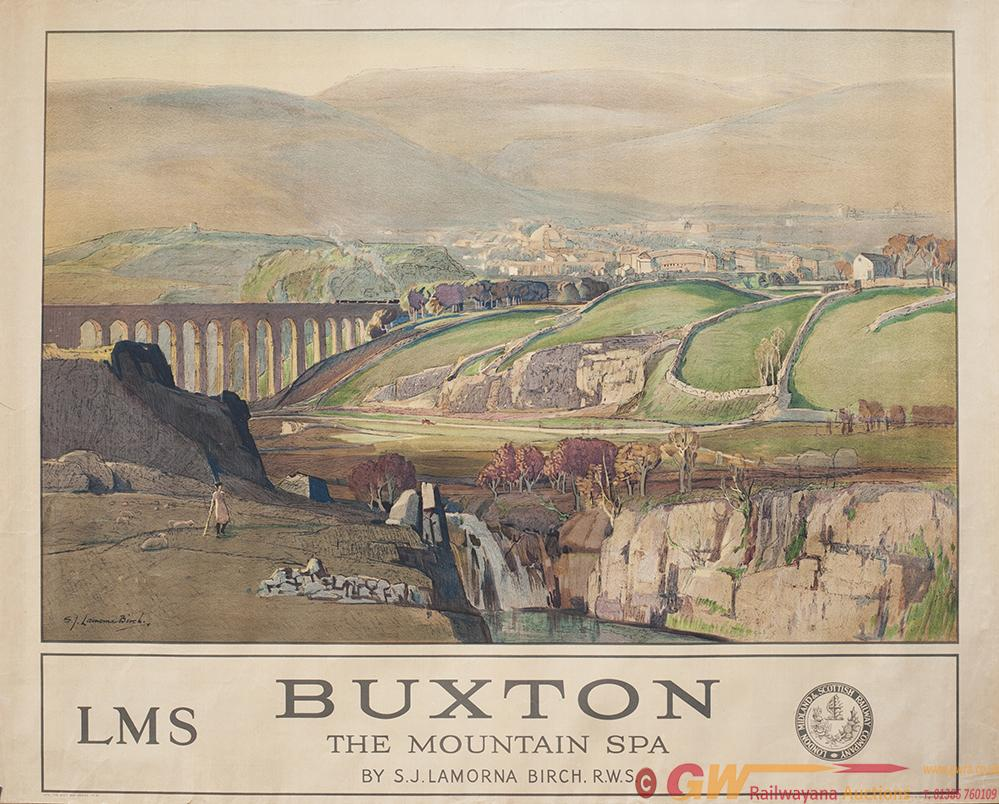 Poster LMS BUXTON THE MOUNTAIN SPA By S. Lamona