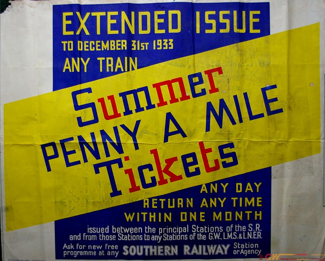 Southern Railway Poster 'Summer Penny A Mile