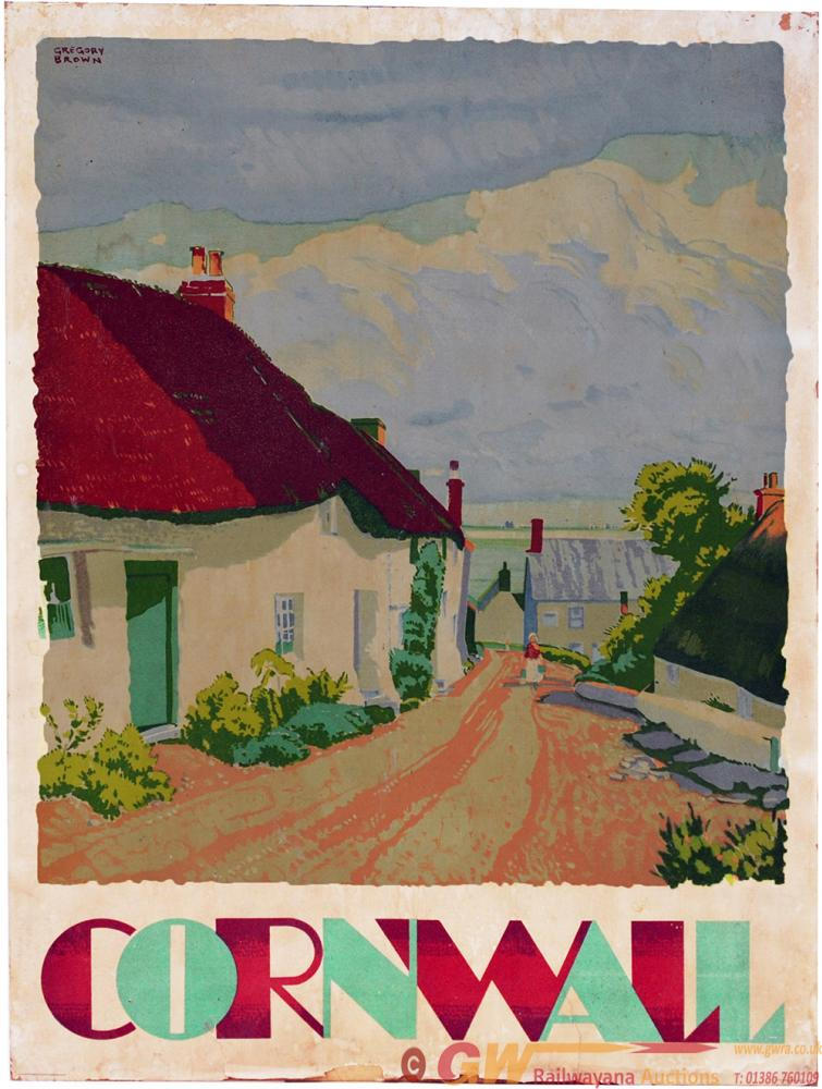 Poster 'GWR Cornwall' By Gregory Brown Circa 1933