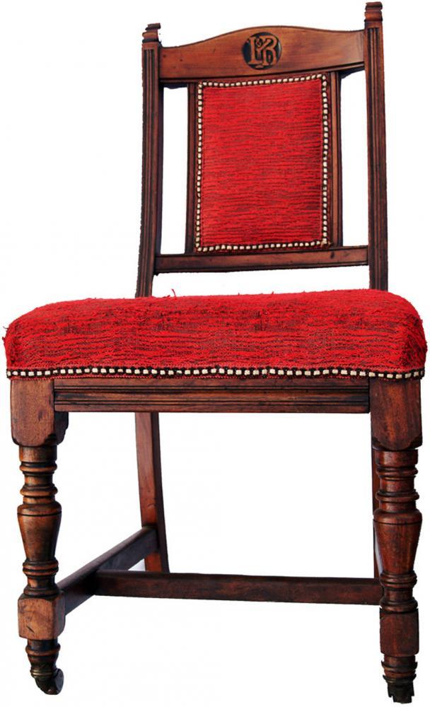 A Pair Of Mahogany LYR Chairs, Both Of Similar