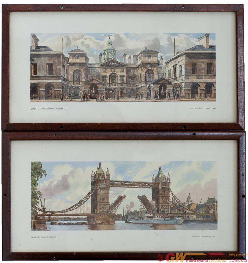 Carriage Prints, A Pair; LONDON HORSE GUARDS