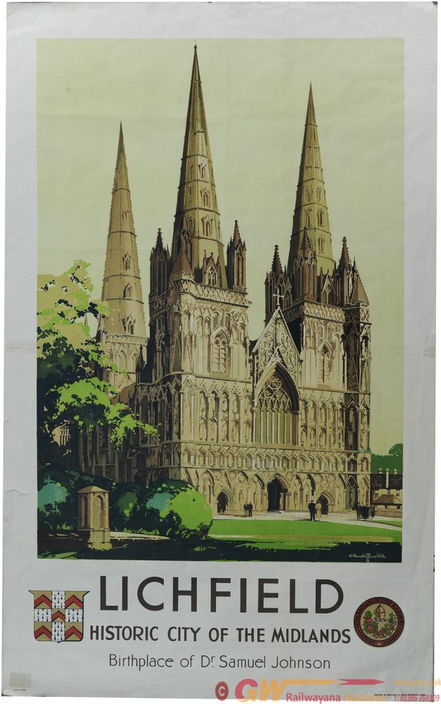 Poster, LMS 'Lichfield - Historic City Of The