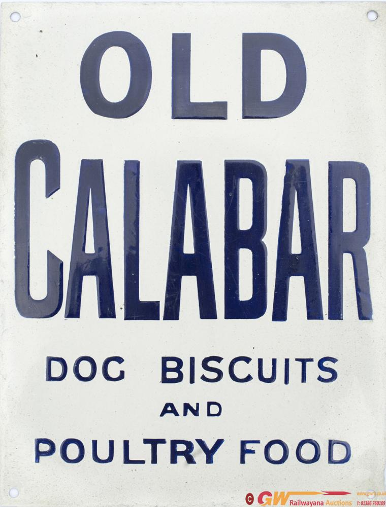 Advertising Enamel Sign OLD CALABAR DOG BISCUITS