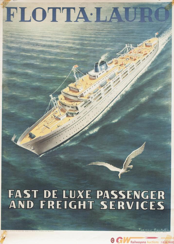 Poster Italian Shipping FLOTTA.LAURO FAST DE LUXE