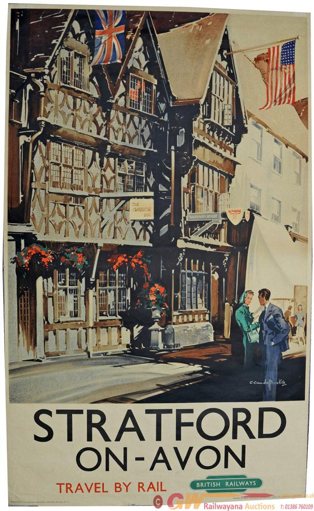 Poster, BR(W) 'Stratford-On-Avon' By Claude