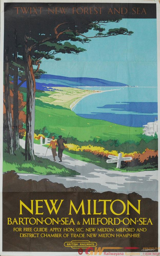 Poster BR(S) 'New Milton' By Verney Danvers,