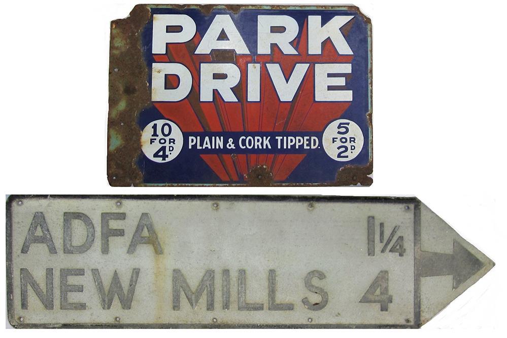 Enamel Advertising Sign, PARK DRIVE PLAIN & CORK