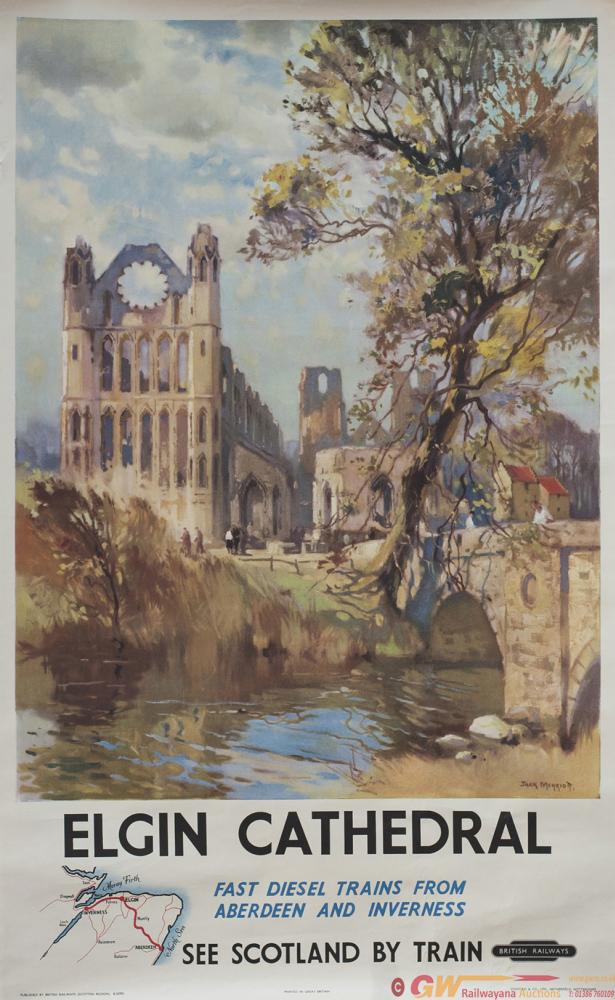 Poster BR ELGIN CATHEDRAL By Jack Merriott. Double