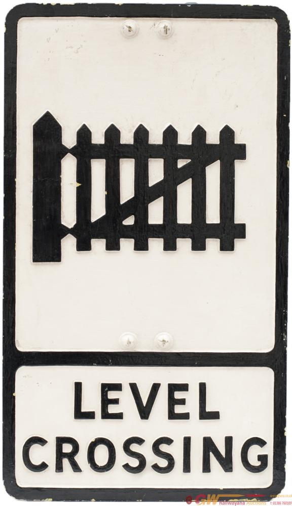 Motoring Road Sign LEVEL CROSSING (Gated). Cast