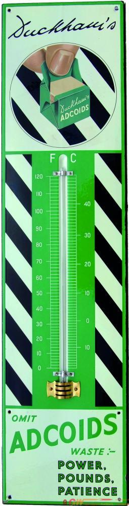 Enamel Advertising Sign Thermometer Duckhams